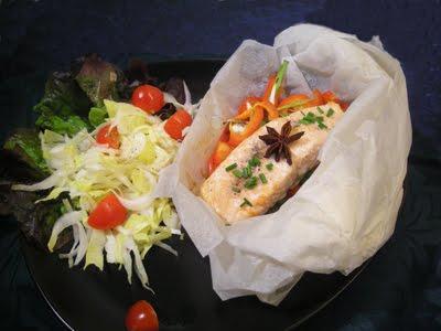 Saumon en papillote au four la recette facile par toqu s 2 cuisine - Saumon papillote au four ...