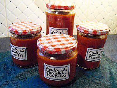 Coulis de tomates fraiches