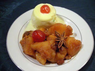 Compotée de pommes à la cannelle et gingembre