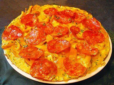 Omelette poivrons et chorizo