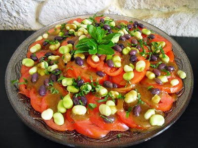 Salade coeur de boeuf aux f ves la recette facile par - Cuisiner le coeur de boeuf ...