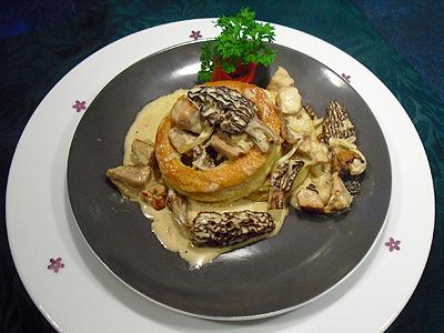 Croustades de veau aux morilles la recette facile par - Comment cuisiner des ris de veau congeles ...