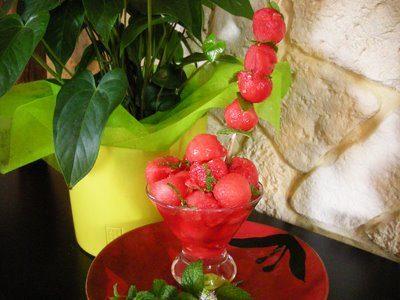 Verrines de pastèque aux épices