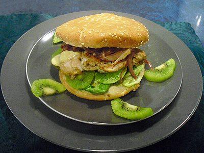Hamburgers allégés de poulet au curry