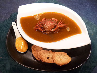 Soupe de crabes verts