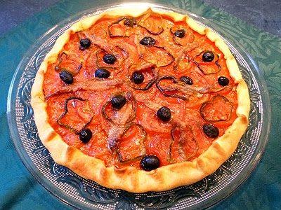 Tarte au rougail tomates