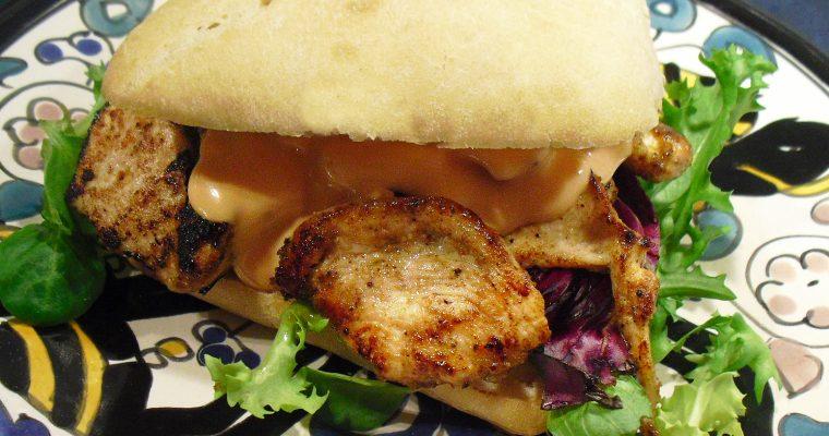 Hamburgers de poulet à l'orientale