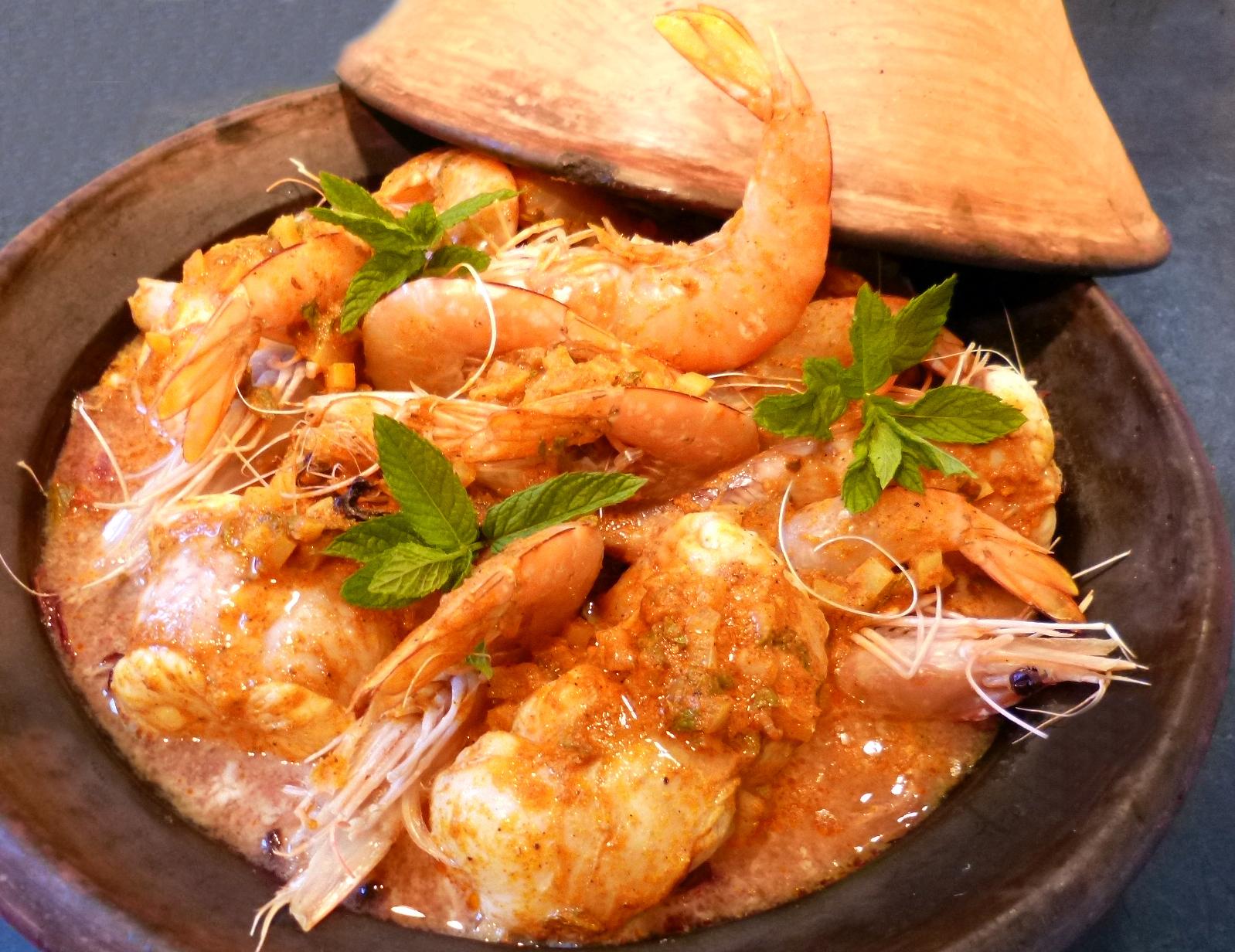 Tajine de lotte et gambas au curry la recette facile par toqu s 2 cuisine - Plat a tajine pour induction ...