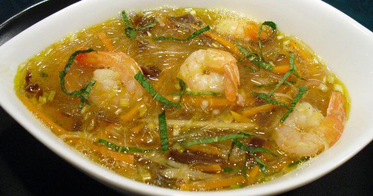 Soupe aux crevettes