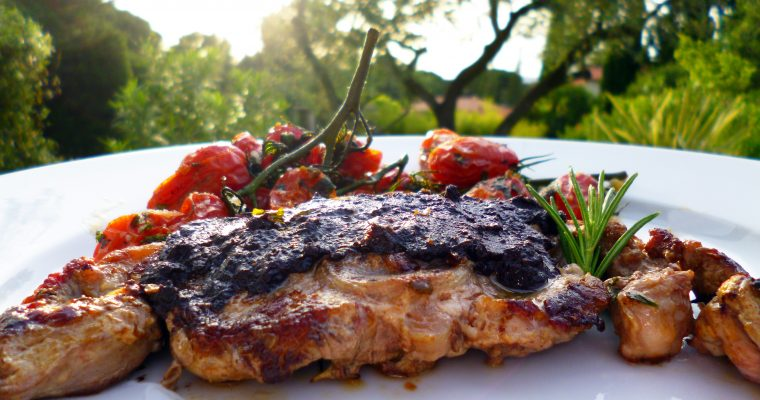 Côtes d'agneau aux olives de Nyons