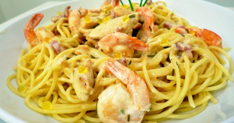 Spaghettis aux perles de citron