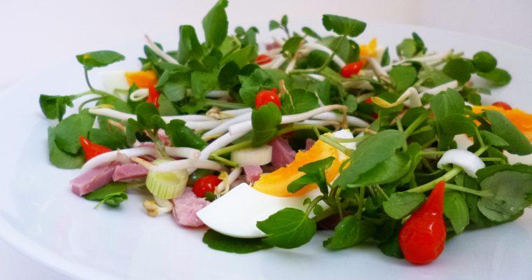 Salade thaï aux gouttes de poivrons rouges