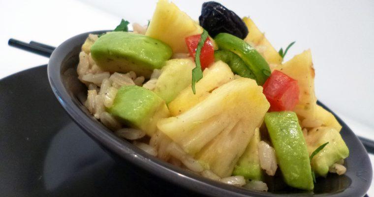 Salade de riz germé