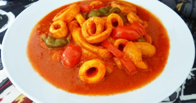 Encornets sauce pimentée