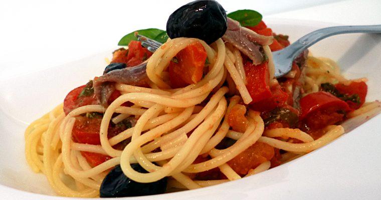 Pâtes aux anchois