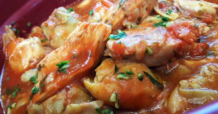 Aiguillettes de poulet aux cœurs d'artichauts