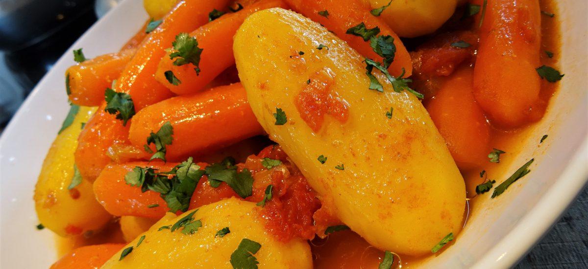 Pommes de terre et carottes épicées au Micro Minute