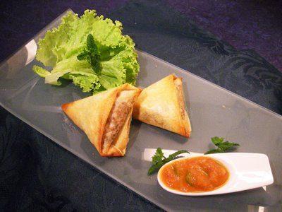 Samosa de boeuf à l' orientale
