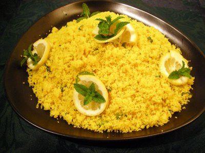 Semoule de couscous au citron