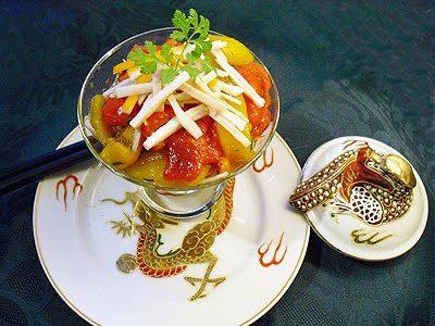 Salade de poivrons au surimi