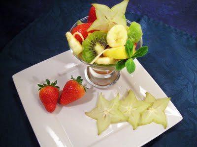 Salade d'ananas au gingembre
