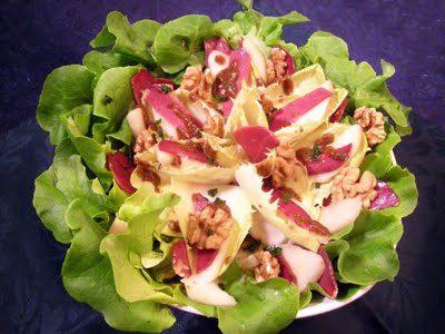 Salade d'endives aux poires et magret