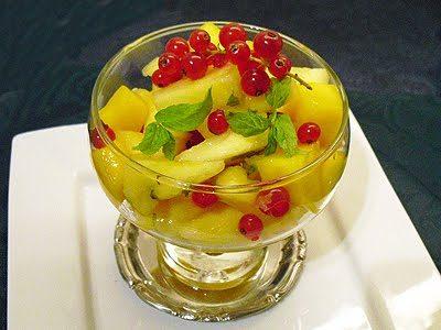 Salade mangue ananas au rhum