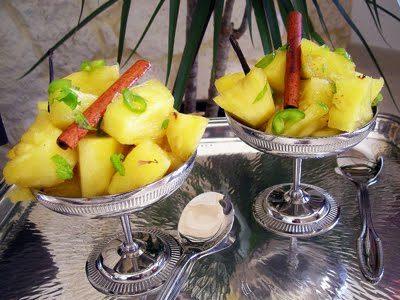Salade d'ananas à la diable