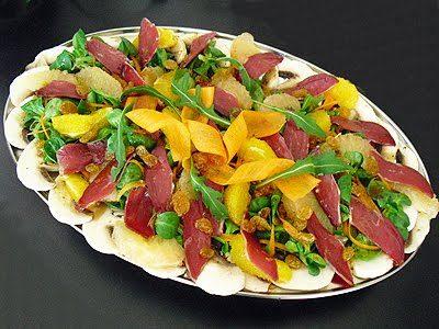 Salade de magret aux agrumes
