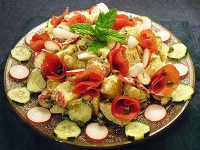 Salade parmentière à la bresaola