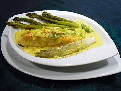 Saumon frais aux asperges