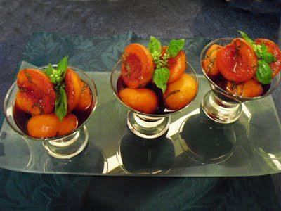 Abricots au vin