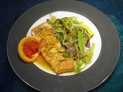 Filets de saumon aux agrumes