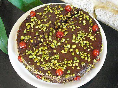 Gateau chocolat pistaches
