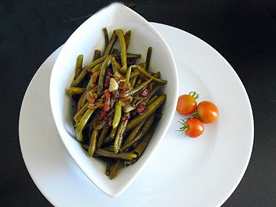 salade de haricots verts frais la recette facile par toqu s 2 cuisine. Black Bedroom Furniture Sets. Home Design Ideas