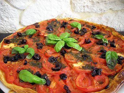 Tarte fine tomates basilic