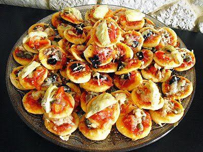 Minis pizzas