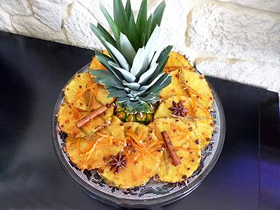 Ananas rôti au gingembre