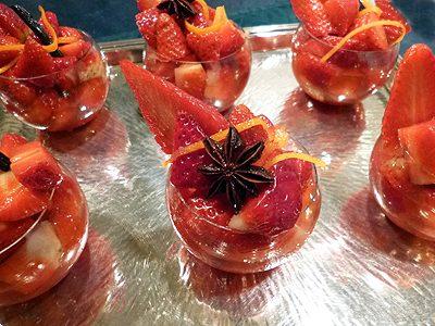 Salade de fraises au vin blanc