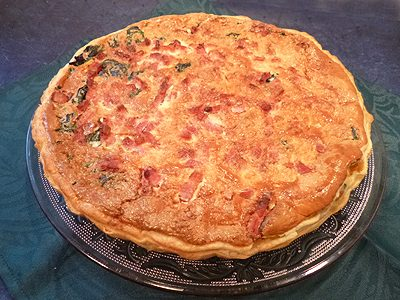 Quiche épinards lardons