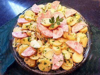 Salade saucisson pommes de terre
