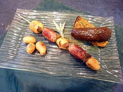 Brochettes de pérugines au poivre