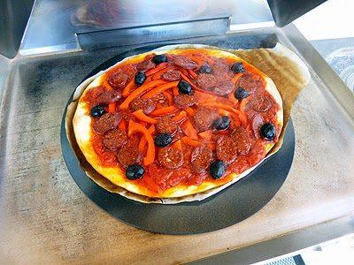 Pizza à la plancha