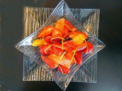 Salade de fraises aux agrumes