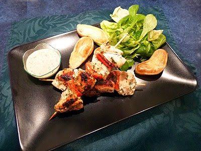 Brochettes de poulet au yaourt