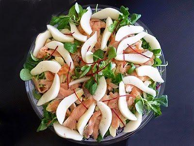 Salade de saumon aux poires