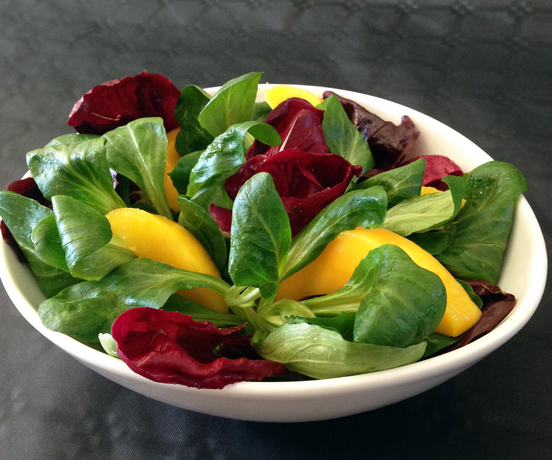 Salade verte la mangue la recette facile par toqu s 2 cuisine - Recette salade verte ...