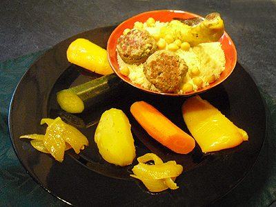 Couscous facile au poulet et boulettes