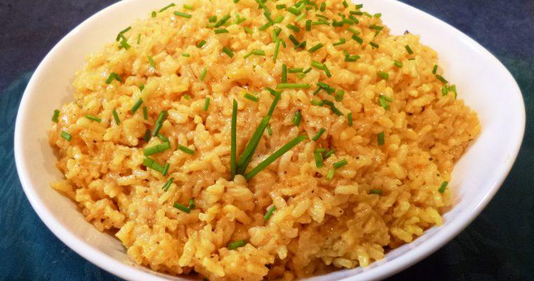 Riz au curry et crème de coco