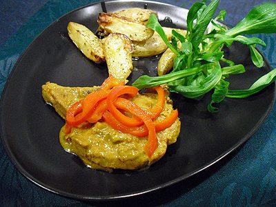 Côtes de porc au curry